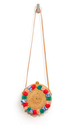 Cleobella Circle Pom Straw Crossbody