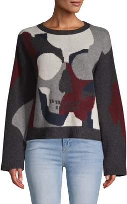360 Cashmere Skull-Front Cashmere Sweater