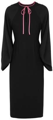 Roksanda Atlen Black Ruched Cady Dress