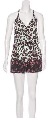 Markus Lupfer Sleeveless Animal Print Romper