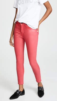 A Gold E AGOLDE Sophie High Rise Skinny Crop Leatherette Jeans