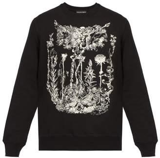 Alexander McQueen Embroidered Skeleton Garden Cotton Sweatshirt - Mens - Black