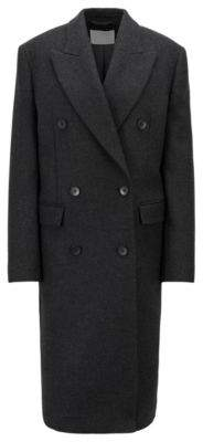 BOSS Hugo Double-breasted coat in an Italian wool 4 Black