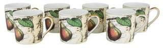 Bernardaud Set of 7 Poesie Demitasse Cups