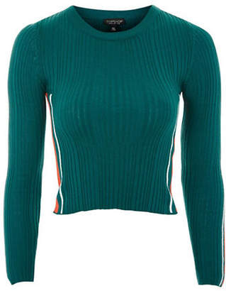 Topshop Sporty Side Striped Knitted Top