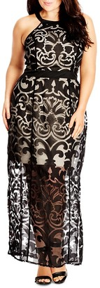 City Chic Burnout Baby Maxi Dress $119 thestylecure.com