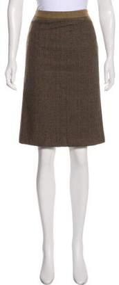 Etro Tweed Pencil Skirt