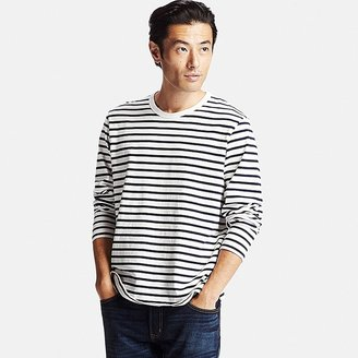 Men Washed Striped Crewneck Long Sleeve T-Shirt $19.90 thestylecure.com