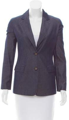 Calvin Klein Collection Denim Notch-Lapel Blazer