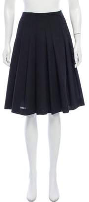 Akris Pleated Knee-Length Skirt Pleated Knee-Length Skirt