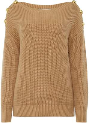 Michael Kors Boatneck button sweater