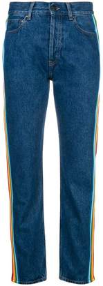 Palm Angels high-waist striped jeans