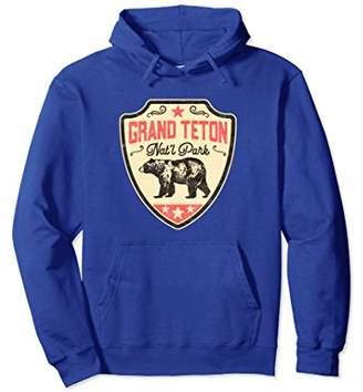 Grand Teton National Park Vintage Grizzly Bear Retro Hoodie