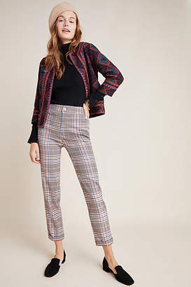 Anthropologie Malcolm Plaid Tapered Trousers