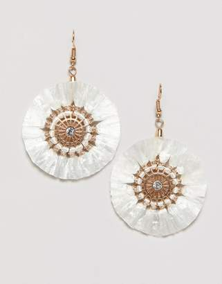 Miss Selfridge raffia earrings