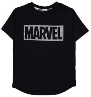 George Marvel Logo Black Short Sleeve T-Shirt