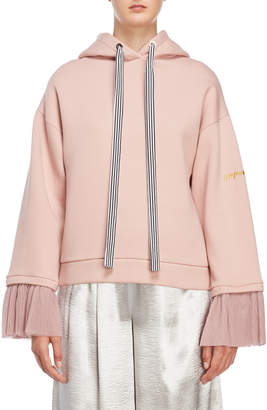 Romanchic Pleated Cuff Pullover Hoodie