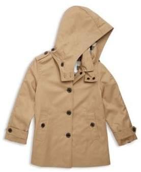 Burberry Little Girl's& Girl's Hooded Trench