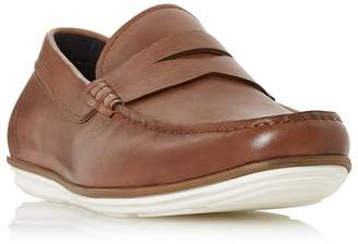 Dune Tan 'Balloon' Contrast Sole Loafers Shoes