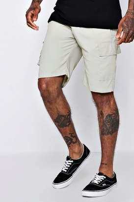 boohoo Cotton Cargo Short With Zip Detail