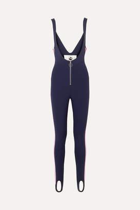 Cordova The Vail Striped Stirrup Stretch Ski Suit - Navy