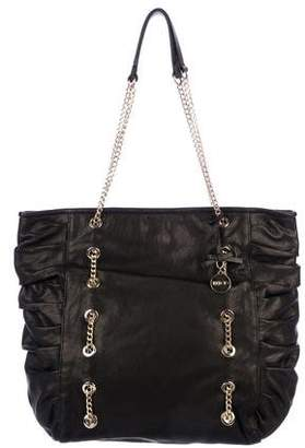 RED Valentino Ruched Chain-Link Tote
