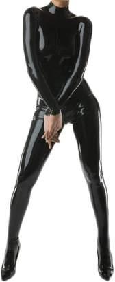 VsvoLatex Women's Latex Catsuit Bodysuit Unitard Tights