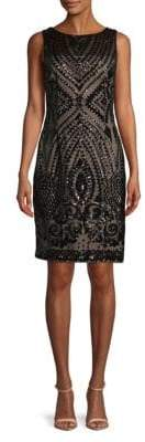 Calvin Klein Sleeveless Sequin Sheath Dress