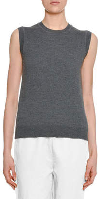 Marni Sleeveless Wool Sweater w/ Silk Printed Back