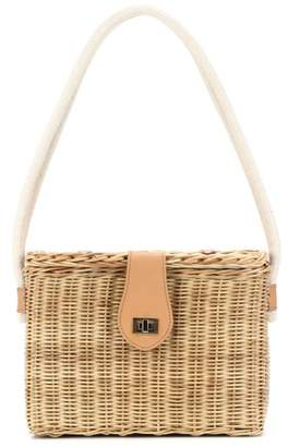 Kayu Mia straw shoulder bag