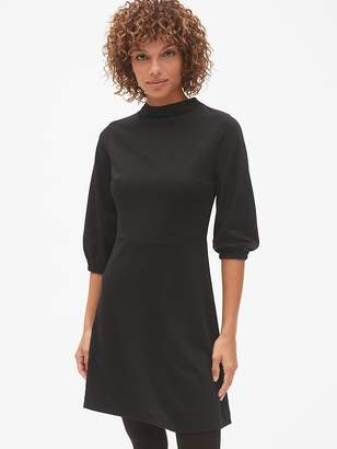 Gap Balloon Sleeve Fit and Flare Dress in Ponte
