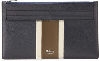 Mulberry Midnight & Chalk Stripe Leather Travel Card Holder
