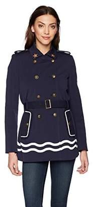 Desigual Women's Morgane Sailor Striped Parka