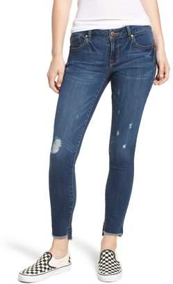 1822 Denim Ripped Step Hem Ankle Skinny Jeans