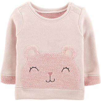 Carter's French Terry Bear Top- Baby Girl