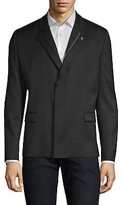 HUGO Men's Ulrico Zipper Lapel Jacket