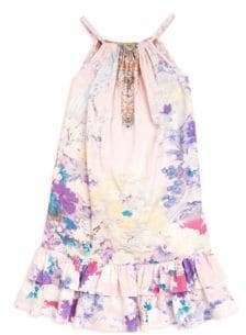Camilla Little Girl's& Girl's Frill Hem Dress