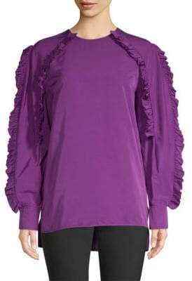Escada Neria Ruffle Sleeve Blouse