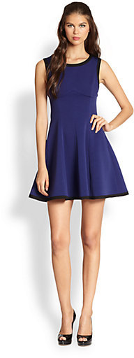 ABS by Allen Schwartz Colorblock A-Line Dress