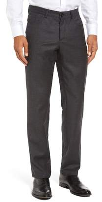Monte Rosso Flat Front Houndstooth Stretch Wool Trousers