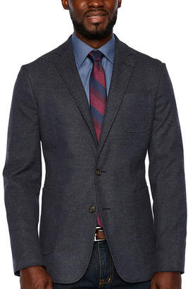 STAFFORD Stafford Merino Flannel Stretch Blue Twill Slim Fit Sport Coat