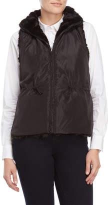 Bagatelle Black Faux Fur Vest