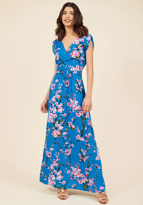 Feeling Serene Maxi Dress in Cherry Blossoms in XS $89.99 thestylecure.com