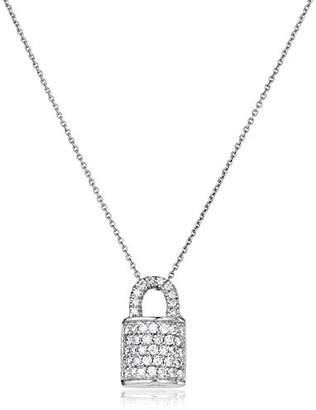 Roberto Coin Diamond Lock Pendant