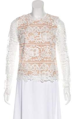 Lovers + Friends Lace Long Sleeve Top