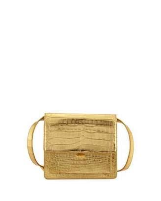 Nancy Gonzalez Gili Metallic Crocodile Crossbody Bag