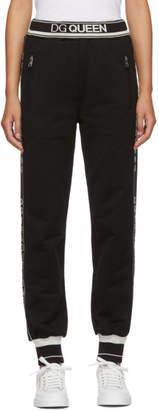 Dolce & Gabbana Black Queen Track Pants