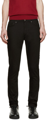 Acne Studios Black Thin Jeans $230 thestylecure.com