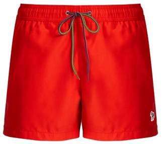 Paul Smith Zebra Applique Swim Shorts - Mens - Red