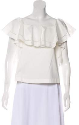 Rachel Zoe Eyelet-Trimmed Off-The-Shoulder Top w/ Tags